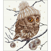 "12.25""X11.75"" 16 Count - Whoo...Who... It's Winter On Aida Counted Cross Stitch Kit"
