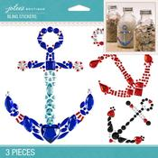 Anchors Bling Dimensional Stickers - Jolees