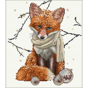 "12.25""X11.75"" 16 Count - Hey There Foxy Lady On Aida Counted Cross Stitch Kit"