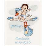 "9.5""X11.75"" 16 Count - It's A Boy On Aida Counted Cross Stitch Kit"