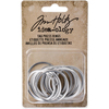 Tim Holtz Tag Press Rings 1  Advantus-Tim Holtz Idea-ology: Tag Press Rings. This package contains fifteen 1 inch rings for use with the tag press to create custom metal edged tags. Imported.