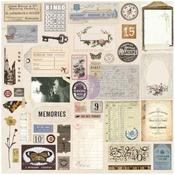 Vintage - Prima Traveler's Journal Ephemera & Stickers