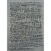 "Strata - Christi Friesen Texture Stamp 4.25""X5.5"""