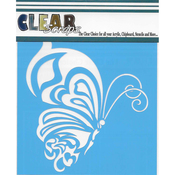 "Whimsical Butterfly - Clear Scraps Stencils 6""X6"""