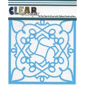 "Doodling - Clear Scraps Stencils 6""X6"""