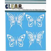"""Swallowtail Butterfly - Clear Scraps Stencils 6""""X6"""""""