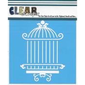 "Oriental Cage - Clear Scraps Stencils 6""X6"""