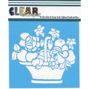 "Mixed Basket - Clear Scraps Stencils 6""X6"""