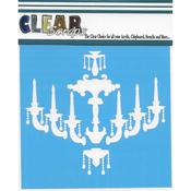 """Chandelier - Clear Scraps Stencils 12""""X12"""""""