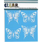 "Swallowtail Butterfly - Clear Scraps Stencils 12""X12"""
