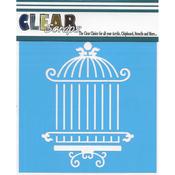 "Oriental Cage - Clear Scraps Stencils 12""X12"""