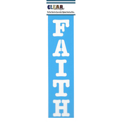 "Faith - Clear Scraps Border Stencils 3""X12"""