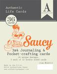 Saucy Authentic Life Cards - Authentique