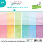 """Watercolor Wishes Petite Pack 6""""X6"""" - Lawn Fawn"""