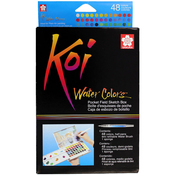 Assorted Colors - Koi Watercolor Pocket Field Sketch Box - 48 Colors