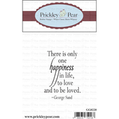 """There Is Only One Happiness - Prickley Pear Cling Stamps 2""""X2.25"""""""
