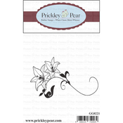 """Double Lilies - Prickley Pear Cling Stamps 1.5""""X3"""""""