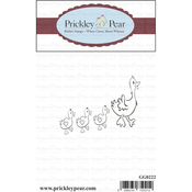 """Ducks In A Row - Prickley Pear Cling Stamps 2.25""""X1"""""""