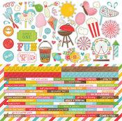 Summer Bucket List Element & Word Strip Stickers - Photoplay