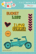 Summer Bucket List Icon Etched Dies - Photoplay