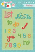 Summer Bucket List Word Etched Dies - Photoplay