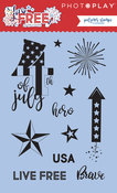 Live Free Stamps - Photoplay