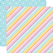 Stardust Stripe Paper - Perfect Princess - Echo Park