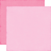 Light Pink - Dark Pink Solid Paper - Perfect Princess - Echo Park