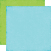 Blue - Green Solid Paper - Perfect Princess - Echo Park