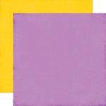 Purple - Yellow Solid Paper - Perfect Princess - Echo Park