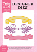 Fancy Banners Die Set - Perfect Princess - Echo Park