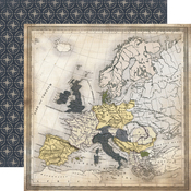Travel Map Paper  - Transatlantic Travel - Carta Bella