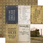 4x6 Journaling Cards Paper - Transatlantic Travel - Carta Bella