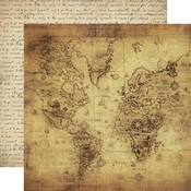 Vintage Map Paper - Transatlantic Travel - Carta Bella