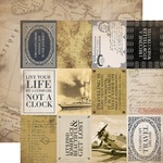 3x4 Journaling Cards Paper - Transatlantic Travel - Carta Bella