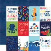 3x4 Journaling Cards Paper - Under The Sea - Echo Park