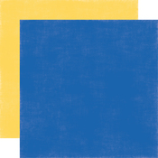 Yellow - Blue Solid Paper - Under The Sea - Echo Park