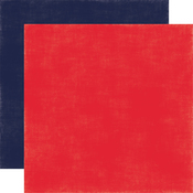 Red - Navy Solid Paper - Under The Sea - Echo Park