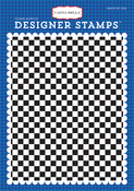 Checkered Flag A2 Stamp - Cartopia - Carta Bella