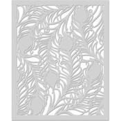 "Peacock Feather - Hero Arts Stencil 6.25""X5.25"""