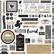 A La Card 12x12 Sticker Sheet - We Do - Photoplay