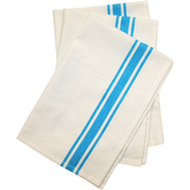 "Turquoise Stripe - Stitch 'Em Up Retro Stripe Towels 18""X28"" 3/Pkg"