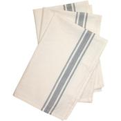 """Gray Stripe - Stitch 'Em Up Retro Stripe Towels 18""""X28"""" 3/Pkg"""