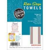 "Americana Stripe - Stitch 'Em Up Retro Stripe Towels 18""X28"" 3/Pkg"