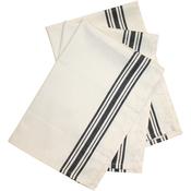 "Black Stripe - Stitch 'Em Up Retro Stripe Towels 18""X28"" 3/Pkg"