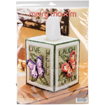 "5"" 7 Count - Butterfly Tissue Box Plastic Canvas Kit"