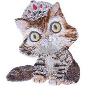 "Cat W/ Tiara 3""X3.5"" - C&D Visionary Patch"