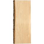 """5""""X18"""" - Basswood Natural Bark Edge Board"""