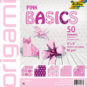 "Pink - Folia Basics Origami Paper 6""X6"" 50/Pkg"