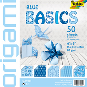 "Blue - Folia Basics Origami Paper 6""X6"" 50/Pkg"